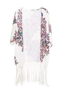 Kimono flores multicolor Fall Trends, Spring Summer Fashion, Kimono Top, Autumn, Let It Be, Clothes, Shopping, Ideas, Women