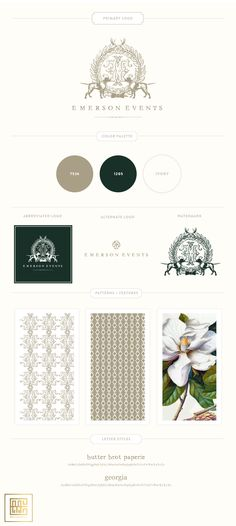 New branding for Emerson Events by Emily McCarthy
