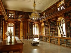 The Festetics Palace Library in Keszthely, Hungary. Palace Interior, Interior And Exterior, Interior Design, Library Study Room, Library Architecture, Beautiful Library, Castle House, Budapest Hungary, Art Nouveau