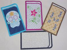 ITH Eye Glass Cases Embroidery Article
