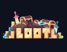 """Check out this @Behance project: """"Loot"""" https://www.behance.net/gallery/43360415/Loot"""