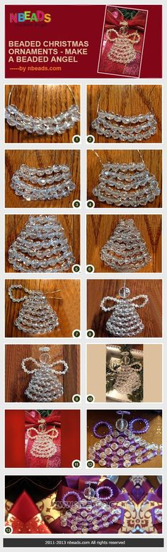 beaded christmas ornaments - make a beaded angel