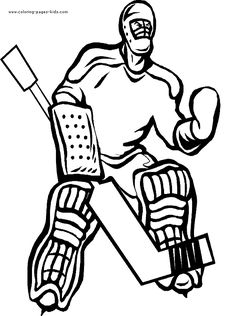 Hockey color page, sports coloring pages, color plate, coloring sheet,printable coloring picture