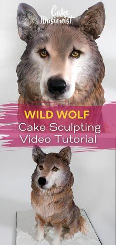 Unique Birthday Cakes, 40th Birthday Cakes, Online Tutorials, Video Tutorials, Wolf Cake, Realistic Cakes, Sculpting Tutorials, Cool Cake Designs, Cakes Today