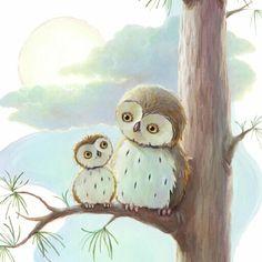 childrens books illustrations | ... Edgson » Owls Younger Children's Book Illustration Alison Edgson