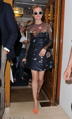 She's out of this world! Diane Kruger decided to switch things up by displaying her galactic style as she dined out at fancy seafood restaurant, Chez Tétou, in Antibes on Sunday
