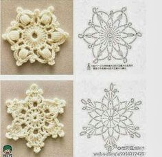 Relasé: Decorazioni di Natale all'uncinetto - schemi di fiocchi di neve!
