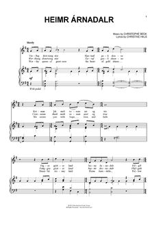 """Heimr Árnadalr"" from 'Frozen' Sheet Music: www.onlinesheetmusic.com"
