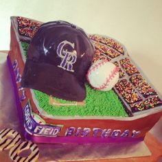 Colorado Rockies baseball birthday cake