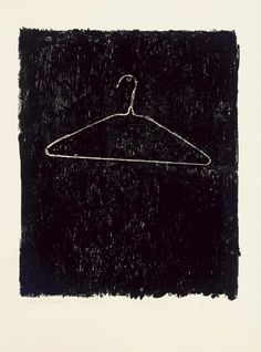JASPER JOHNS  Coat Hanger II (ULAE 6)  lithograph, 1960, on wove paper, signed and dated in pencil, annotated 'artist's proof', and 'Coathanger Variation', one of two artist's proofs apart from the edition of 8.