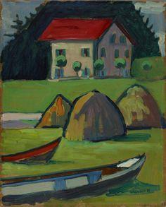 Fisherman's House (Fischerhaus) 1908. Gabriele Münter, 1877-1962, oil on board
