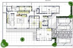 House architecture interior layout Ideas for 2019 Craftsman Floor Plans, House Floor Plans, Single Storey House Plans, Large Floor Plans, Tropical Style, Japanese House, House Layouts, Apartment Design, Interior Architecture