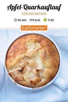 Gesund backen: Apfel-Quarkauflauf – mit Zimt – smarter – Kalorien: 374 kcal – Ze… Bake healthy: apple casserole – with cinnamon – smarter – calories: 374 kcal – time: 45 min. Healthy Dessert Recipes, Healthy Baking, Keto Recipes, Keto Foods, Cena Keto, A Food, Food And Drink, Snacks Sains, Keto Cheesecake