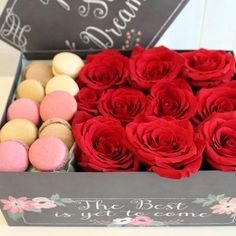 Flowers & macaroons ~ Wilmette Florist | Flower Delivery by Flowers by Geo