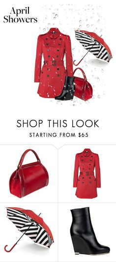 """""""April Showers-2"""" by glinwen ❤ liked on Polyvore featuring Donna Karan, Burberry, Lulu Guinness and Givenchy"""