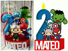 Avengers cake topper hecho a mano, pasta francesa