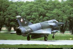 Swiss Air Force Dassault Mirage IIIRS  http://www.airlinefan.com/airline-photos/Swiss-Air-Force/Dassault/Mirage-III/R-2118/1951287/