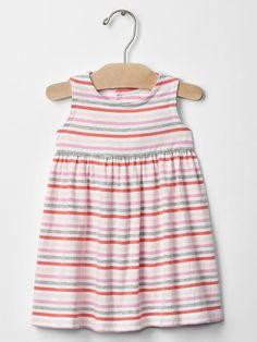Stripe open-back tank dress | Gap
