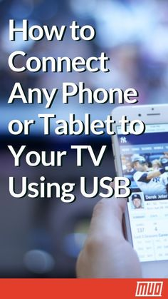 How to Connect Any Phone or Tablet to Your TV Using USB --- While the convenience of a built-in screen is ideal for on-the-go use, hooking up a phone to a TV is a worthy consideration. In this article, learn how to connect your phone to your TV using USB! Life Hacks Iphone, Android Phone Hacks, Cell Phone Hacks, Smartphone Hacks, Android Smartphone, Android Box, Android Watch, Tablet Phone, Phone Gadgets