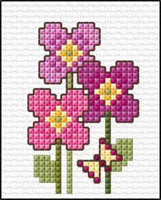 123 Cross Stitch, Easy Cross Stitch Patterns, Small Cross Stitch, Cross Stitch Bookmarks, Cross Stitch Cards, Cross Stitch Borders, Cross Stitch Samplers, Cross Stitch Flowers, Cross Stitch Designs