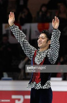 Daisuke Takahashi of Japan celebrates becoming World Champion after the Men's Free Skate during the 2010 ISU World Figure Skating Championships on. World Figure Skating Championships, The Man, Skate, Japan, Celebrities, Free, Celebs, Japanese Dishes, Japanese