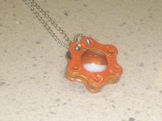 Orange Bicycle Accessory Jewelry Vintage Marble by erracreations, $20.00