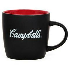 In stock and shipping now.  Campbell's® Black Ceramic Café Mug - CampbellShop.com