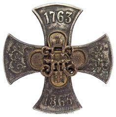 Знак 98-го пехотного Юрьевского полка (для нижних чинов).  Российская Империя, 1912-1917 гг.