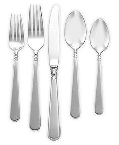 """Lenox """"Pearl Platinum"""" Stainless Flatware Collection - Flatware & Silverware - Dining & Entertaining - Macy's"""