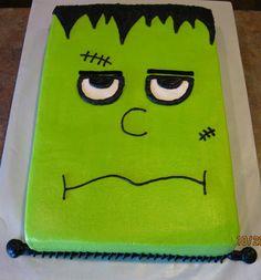 Frankenstein/Halloween Cake