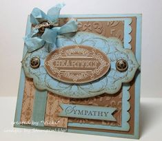 Layered Labels Sympathy by basement stamper - Cards and Paper Crafts at Splitcoaststampers