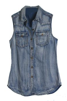 Denim Chambray Button up Tank - Now only $23.80 - Available at www.facebook.com/hypsygypsyboutique - We ship anywhere in the USA!