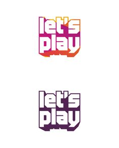 lets play, games, gaming, fun, play, playful, experimental design work, logo design for sale
