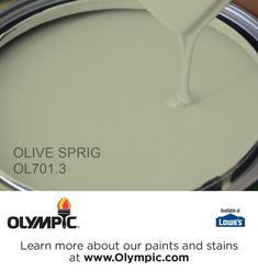 OLIVE SPRIG OL701.3 is a part of the greens collection by Olympic® Paint.