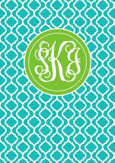 Monogram Binder Cover & spine Quatrefoil Personalised Monogram Printable Binder Cover Monogram Stationery Preppy Back to School Chevron Purchase here:https://www.etsy.com/au/listing/178464003/monogram-binder-cover-spine-quatrefoil?ref=shop_home_active_1