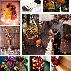 Ntural Themed Fall Wedding
