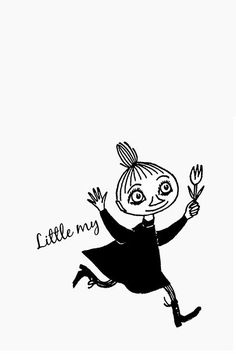 Running Mymble - this is not Little My, but her big sister Mymble. Moomin Wallpaper, Iphone Wallpaper, Little My Moomin, Shin Chan Wallpapers, Moomin Valley, Tove Jansson, Cute Illustration, Printable Art, Drake