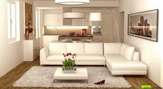 ARCHITETTO ON LINE - Progettazione on line Small Living Rooms, Home And Living, Living Room Designs, Living Room Decor, Cosy House, Apartment Projects, Home Interior Design, Sweet Home, House Design