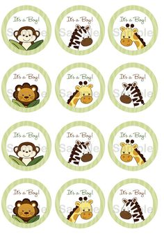 Safari Friends Jungle Animal Printable by LittlePrintsParties, $5.00