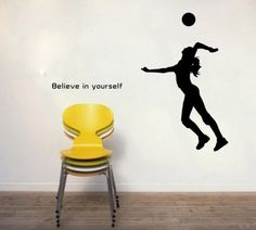 Sporting Volleyball Believe in Yourself Wall Decal Sticker Living Room Stickers Vinyl Removable Wide 53cm High 65cm Black Color QINU KEONU,http://www.amazon.com/dp/B00HH0K6CS/ref=cm_sw_r_pi_dp_fQjotb01HHR636Y7
