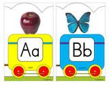 alphabet worksheets and flashcards, I especially like their cut and paste worksheets, not everything is free (boo)
