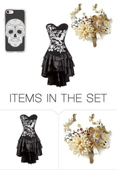 """""""Untitled #215"""" by lostcherub ❤ liked on Polyvore featuring art and Dayofthedead"""