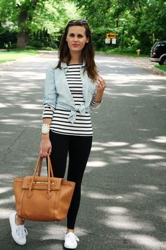 jillgg's good life (for less) | a style blog: my outfit: tennies & stripes! #ootd #whatiwore