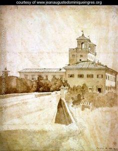 View of the Villa Medici - Jean Auguste Dominique Ingres