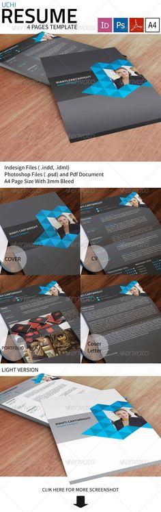 Modern  Simple Resume Set Simple resume, Modern and Creative