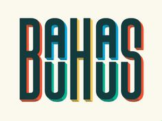 A great example of bauhaus typography, I find this piece very unique and I think its interesting how the words are on top of eachother other. Typo Design, Graphic Design Typography, Design Art, Japanese Typography, Web Design, Modern Typography, Interior Design, Bauhaus Art, Bauhaus Design