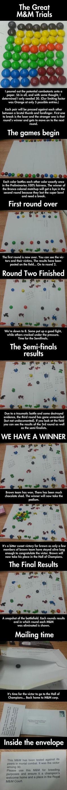 The Great M & M Trials