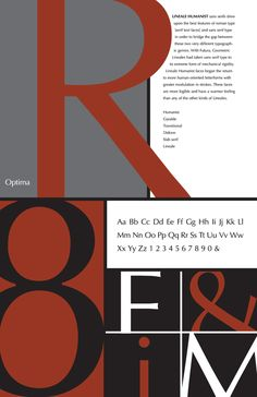 Type Specimen Posters (Graduate Work) by Aldrena Corder, via Behance. another example of the simple block color design. love this