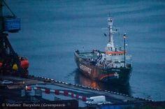 Partida do navio Arctic Sunrise do porto de Murmansk, na Rússia. http://kickante.com.br/greenpeace Precisamos deixar o Arctic Sunrise pronto para navegar e seguir com sua missão. Para isso, precisamos da sua ajuda!