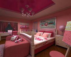 Hello Kitty room Hello Kitty Bedroom Set, Hello Kitty Room Decor, Hello Kitty Rooms, Bedroom Images, Bedroom Themes, Bedroom Colors, Bedroom Decor, Bedroom Ideas, Bedroom Furniture